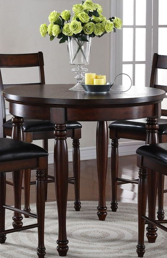 Breckenridge Brown 42 Quot Round Counter Height Dining Table