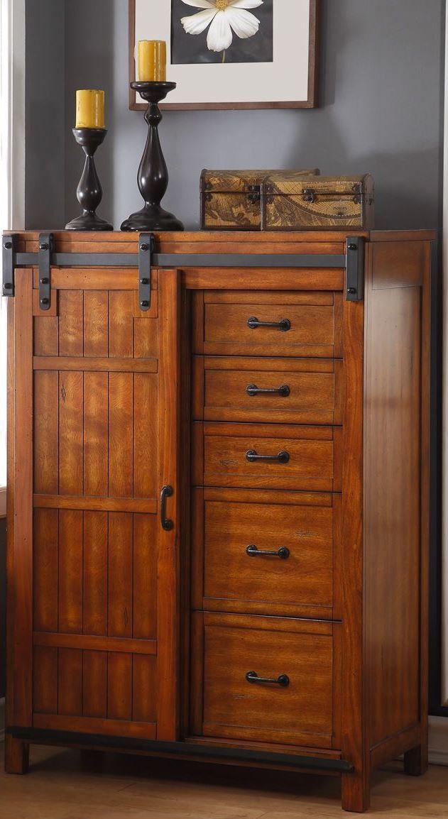 Industrial Bedroom Furniture: Industrial Brown Panel Bedroom Set, ZIND-7001-7002-7003