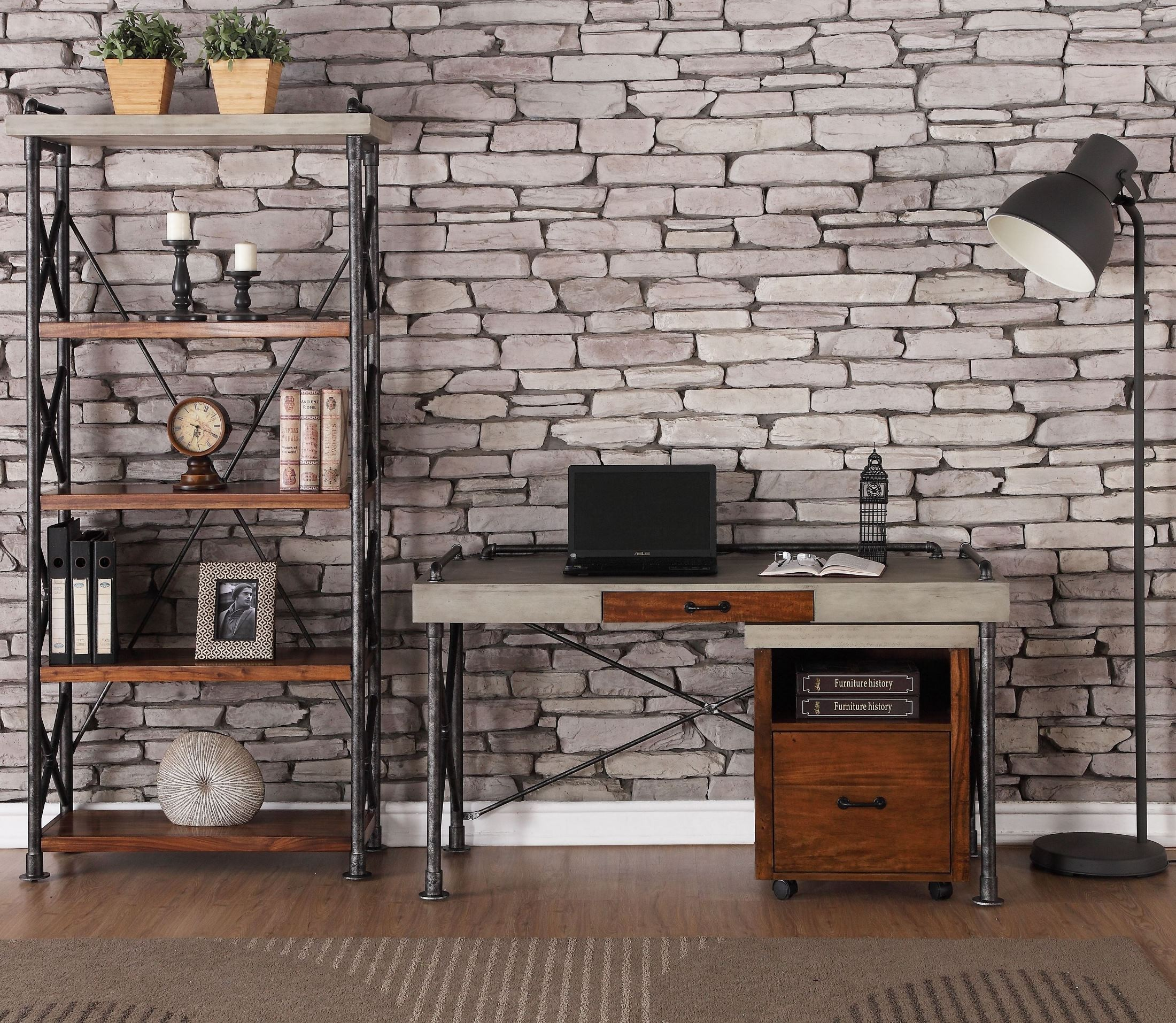 Steampunk Brown Home Office Set From Legends Furniture