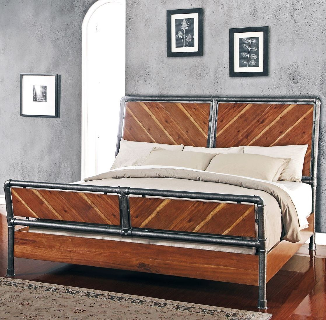 Steampunk Brown King Panel Bed From Legends Furniture