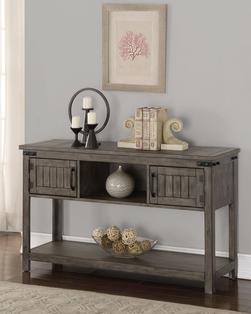 Storehouse Gray Sofa Table From Legends Furniture | Coleman Furniture
