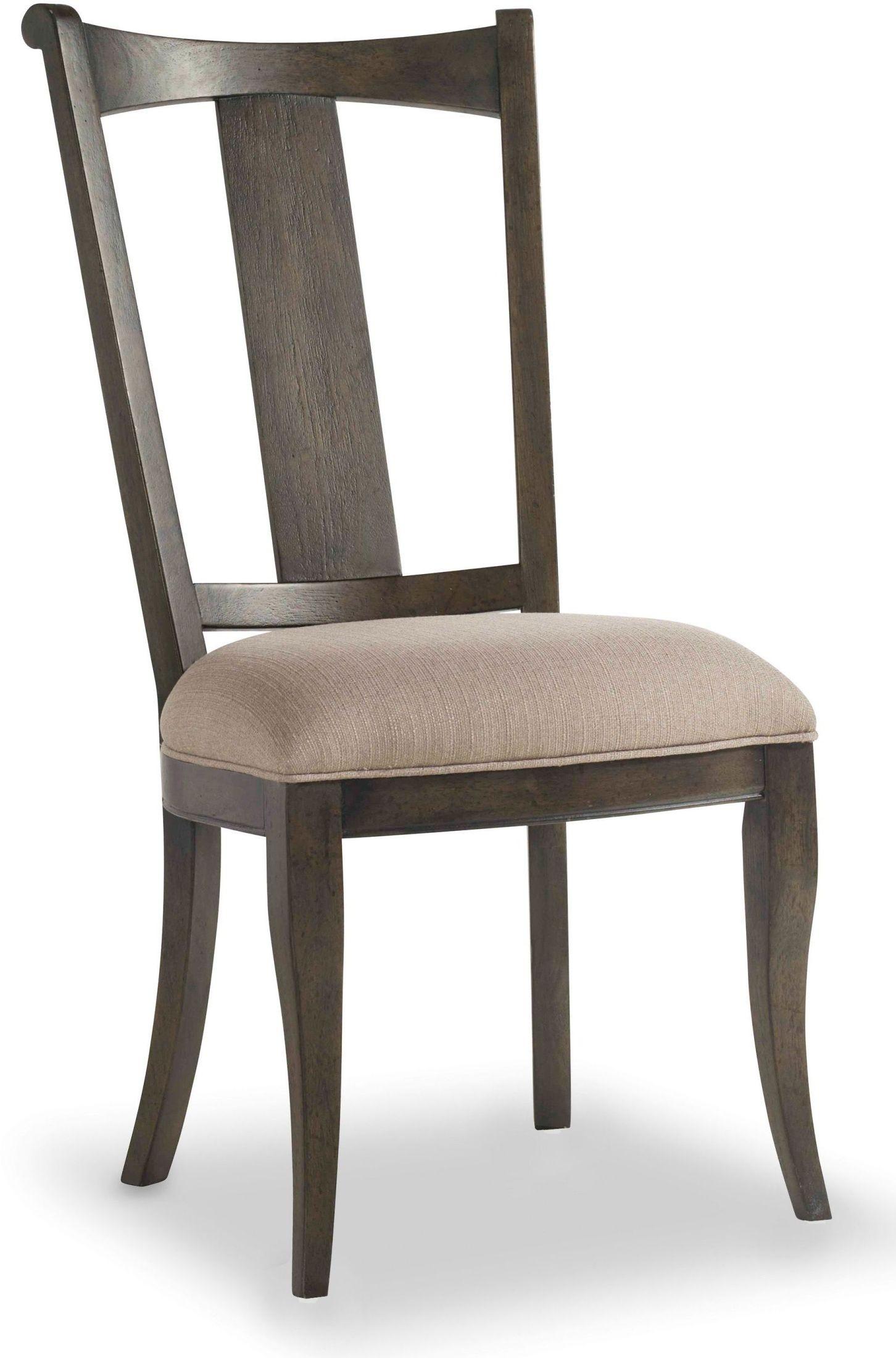 Vintage West Charcoal Gray Upholstered Splatback Side Chair Set Of 2 5700 75