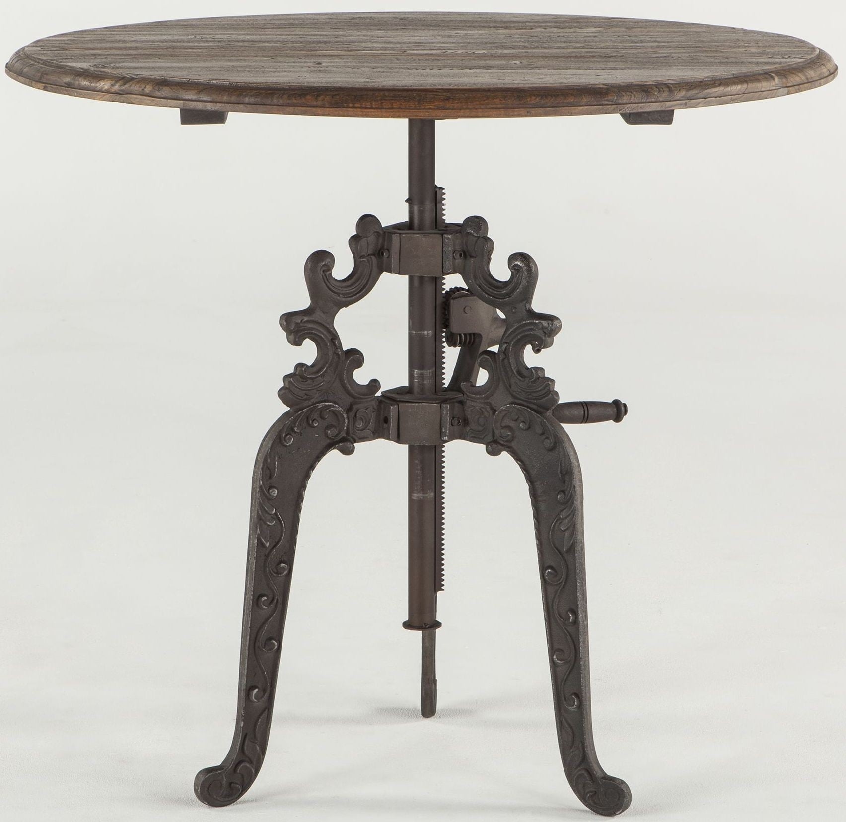 Regina Weathered Grey Adjustable Round Dining Table from Home ...