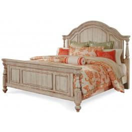Belmar New Antique Linen King Panel Bed