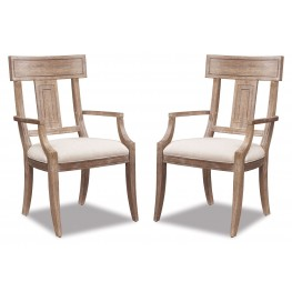 Ventura Splat Back Arm Chair Set of 2