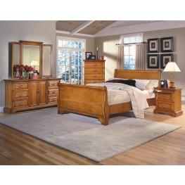 Honey Creek Caramel Sleigh Bedroom Set