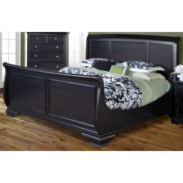 Maryhill Rubbed Black King Sleigh Bed