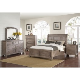 Allegra Pewter Storage Sleigh Bedroom Set
