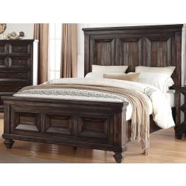 Sevilla Walnut Cal. King Panel Bed