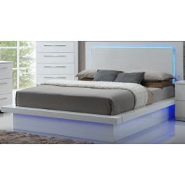 Sapphire High Gloss White Laminate Queen Platform Bed
