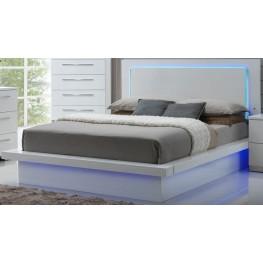 Sapphire High Gloss White Laminate Queen Platform Bed