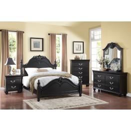 Jaquelyn Black Poster Bedroom Set