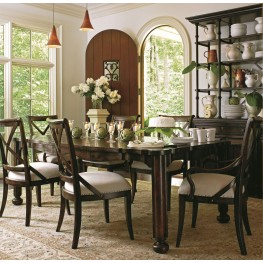 European Farmhouse Terrain Parson's Leg Extendable Dining Room Set