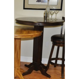 Distressed Walnut Adjustable Pub Table