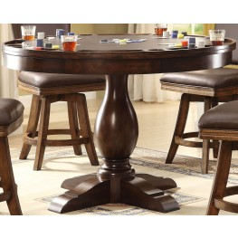 "Trafalgar Square 42"" Walnut Counter Height Game Table"