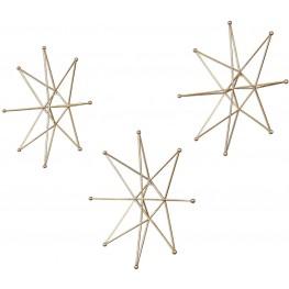 Gold Stars Wall Art Set of 6