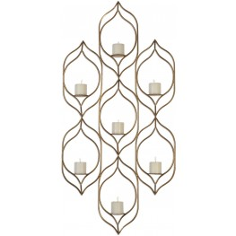 Rovena Brown Seven Candle Wall Sconce