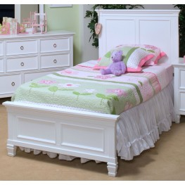 Tamarack White Full Platform Bed