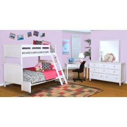 Tamarack White Youth Bunk Bedroom Set