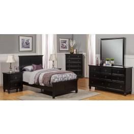 Tamarack Black Youth Platform Bedroom Set