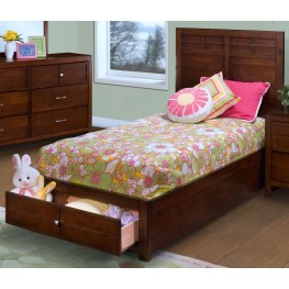 Kensington Burnished Cherry Full Platform Storage Bed