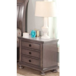 Allegra Youth Pewter Youth Nightstand