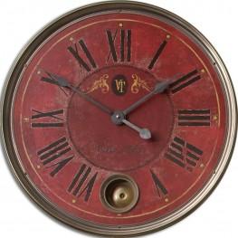 """Regency Villa Tesio 23"""" Red Wall Clock"""