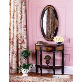 Coffee Demilune Console Table