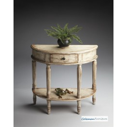 Chateau Gray Demilune Console Table