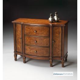 Classic Walnut Console Cabinet