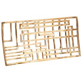 Large Antique Brass Circuit Board Tray