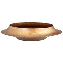 Pioneering Flamed Brass Bowl