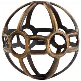 Small Breezy Ball Antique Brass Filler