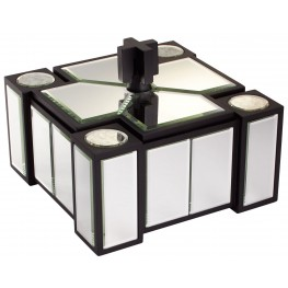 House Of Mirrors Clear Black Container