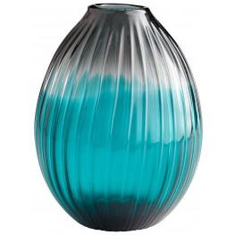 Serenity Clear Blue Teardrop Vase