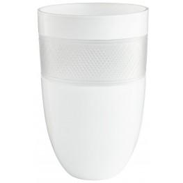 Large White Calypso Vase