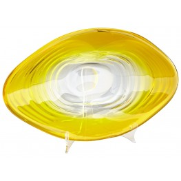 Small Ripple Effect Yellow and Clear Plate