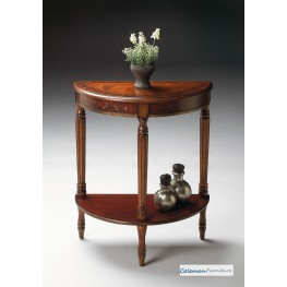 Cherry & Red Demilune Console Table