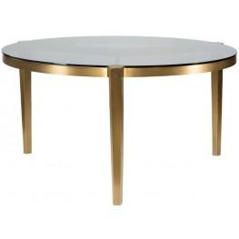 Milano White 48'' Round Dining Table