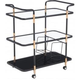 Secret Black & Gold Serving Cart