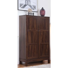 "64"" Dark Walnut Bar Cabinet"