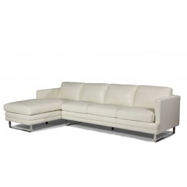 Melbourne White LAF Leather Sectional