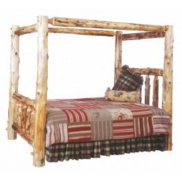 Traditional Cedar Queen Canopy Bed