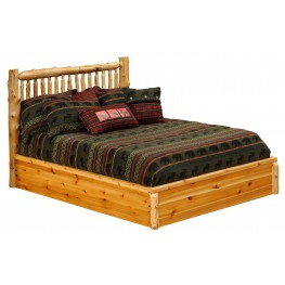 Cedar Full Small Spindle Platform Bed