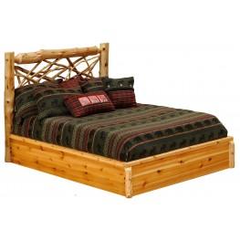 Cedar Queen Twig Platform Bed