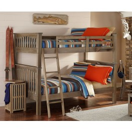 Highlands Harper Driftwood Full Over Full Bunk Bed