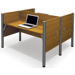 Pro-Biz Cappuccino Cherry Double Face to Face Workstation