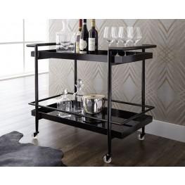 Livingston Matte Black Bar Cart