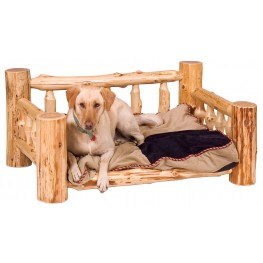 Cedar Dog Bed With Standard Mattress