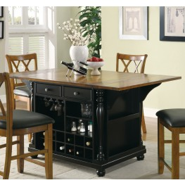 102270 Black Kitchen Island
